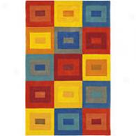 Surya Colored Building Blocks Hand Tufted Wool Rug
