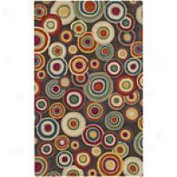Surya Dazzle Bubbles Grey Hand-tufted Wool Rug