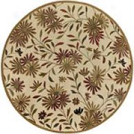 Surya Dream Ivory New Zealand Round Wool Rug