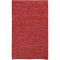 Suray Edge Red 100% Leather Rug