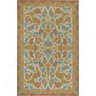 Surya Flor Beige & Gold Hooked Wool Rug