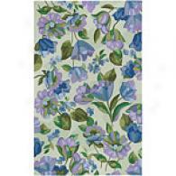 Surya Flor Beige & Lilac Hooked Wool Rug
