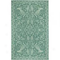 Surya Flor Medium Jade Hooked Wool Rug