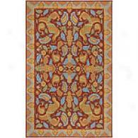 Surya Flor Rust Hooked Wool Rug