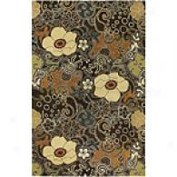 Surya Goa Brown Handmade Nz Wool Rug