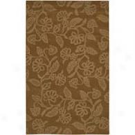 Surya Goa Cocoa Brown Hand-tufted Wool Rug