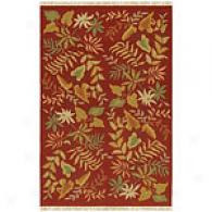 Surya Jewel Tone Red Foliage Wool Rug