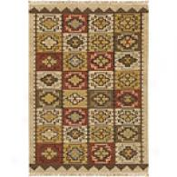 Surya Jewel Tone Southwestern Red Wool Rug