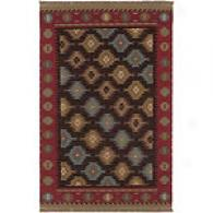 Surya Jewel Tone Southwestern Brown Wool Rug