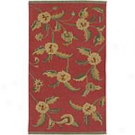 Surya Jeweo-toned Red Floral Wool Rug