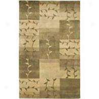 Surya Muyal Beige Vine Hand-tufted Wool Rug