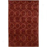 Surya Mugal Burgundy Hand Knotted Wool Rug