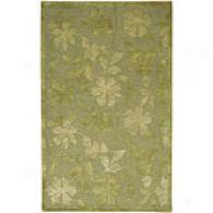 Surya Mugal Pale Mint Floral Hand-tufted Wool Rug