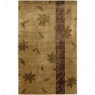 Surya Mugal Tan Hand-tufted Wool Rug