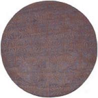 Surya Natura Plum Hand-tufted Wool Round Rug