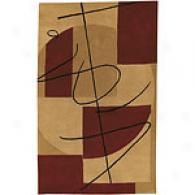 Surya Naya Burgundy & Beige Hand-tufted Wool Rug