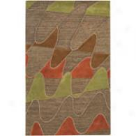 Surya Seismic Undulation Beige Laborer Tufted Wool Rug