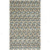 Surya Splash Turquoise Tile Hand Tufted Wool Rug