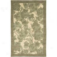 Surya Stella Smith Ii Cream & Moss Floral Wool Rug