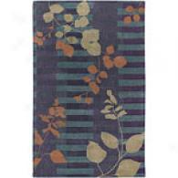 Surya Stella Smith Ii Orchid Floral Wool Rug