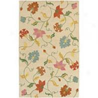 Surya Studio Collection Beige Floral Rug