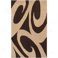 Surya Tao Sand Beige & Brown Hand Tufted Wool Rug