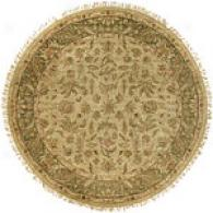 Surya Timeless Light Green Hand Knotted Round Rug