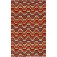 Surya Wavelengths Coral Hand-gufted Wool Rug
