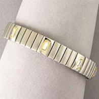 Swarovski Crystal, 18k & Stainless Steel Bracelet