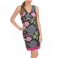 Sweet Pea Printed Mesh V Neck Dress