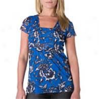 Sweet Pea Wanda Sky V-neck Empire Waist Top