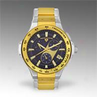 Swiss Legend Mens Chrono Two Tone Stainless Watch