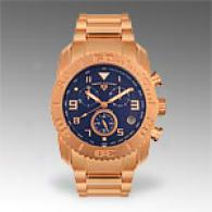 Swiss Legend Mens Rose Gold Tone Chronograph Watch