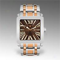Swiss Legend Mens Two Tone Brown Dial Watch