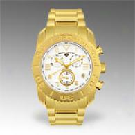 Swiss Fable Mens Yellow Stainless Chrono Watch
