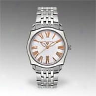 Swiss Legend Stainless Steel White Dial Watch