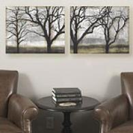 Tandem Trees Set Of 2 16in X 20in Canvas Prints