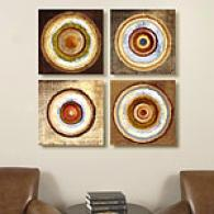 Target Study Set Of 4 16in Square Canvas Prnts