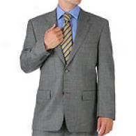 Tasso Elba Grey Wool Twill 2 Button Suit