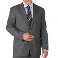 Tasso Elba Pinstriped Grey 2 Button Suit