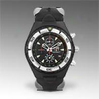 Technomarine Mens Squale Black Chronograph Watch