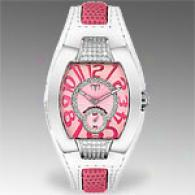 Technomarine Womens Pave White And Pink Watch