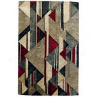 Tempo Collection Jewel Contemporaru Wool Rug