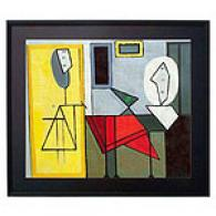 The Studio By Picasso Framed Oil Painting