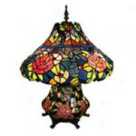 Tiffany Rose Blossom Table Lamp