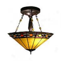Tiffany Ruby Jewel Ceiling Lamp