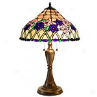 Tiffany Style Iris Glass Table Lamp