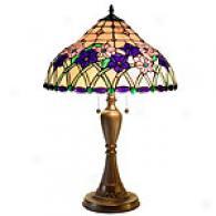 Tiffany Style Iris Glass Table Lamp