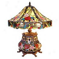 Tiffany Style Rose Double Lite Table Lamp