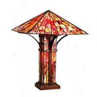 Tiffany Sunburst Table Lamp